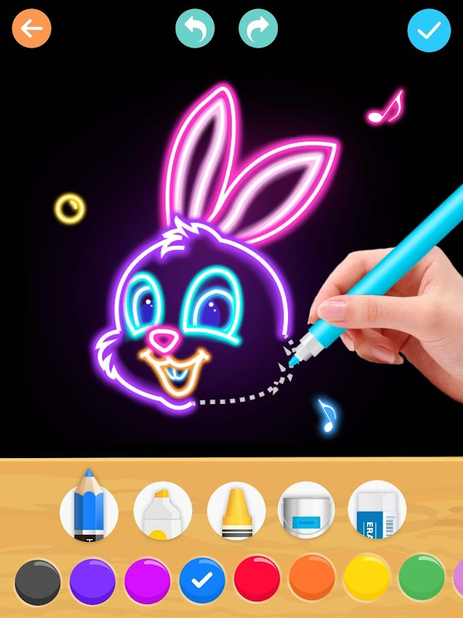 Draw Glow Animals Android 23