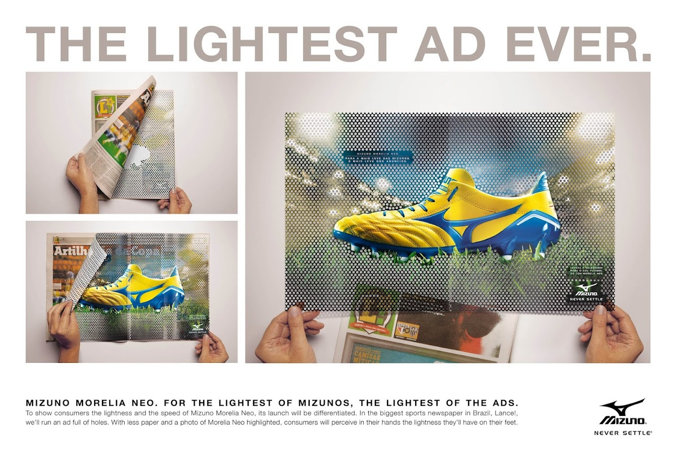 Mizuno Morelia Neo — The Lightest Boot Gets The Lightest Ad Ever