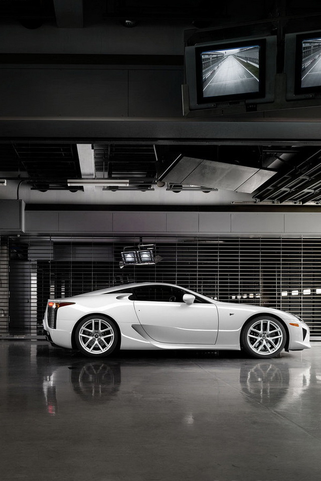Lexus Aurora White Pearl color Photos Car Wallpapers For iPhone 4