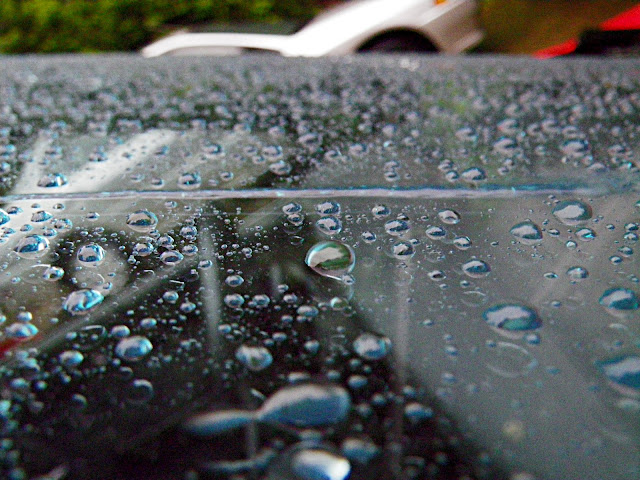 Rain-X on windshield after rainstorm