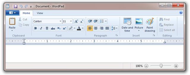 Lista com todos os atalhos de teclado do WordPad do Windows 7