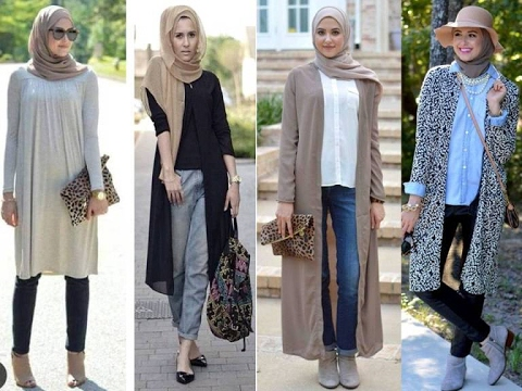 AMAZING CASUAL HIJAB OUTFITS DESIGNS FOR LADIES 2019 5