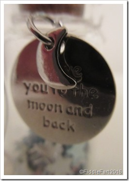 To the moon and back tiny bottle decoration