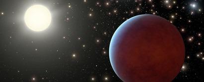 ilustração do Júpiter quente WASP-104b