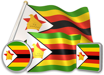 Zimbabwean flag animated gif collection