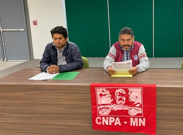CNPA MN EXIGE RENUNCIA DE DELEGADO DE LA FGR EN CHIAPAS POR VIOLAR DH DE LÍDERES SOCIALES