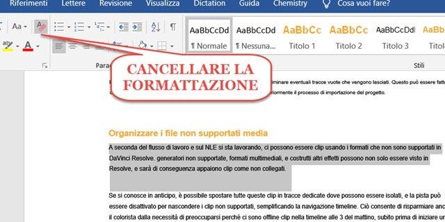 cancellare-formattazione