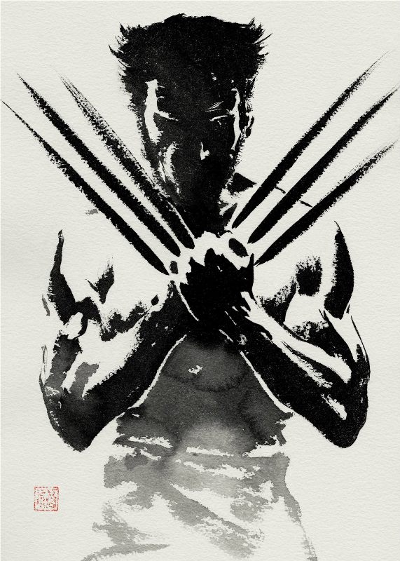 The Wolverine Eastern ink Wolverine print poster