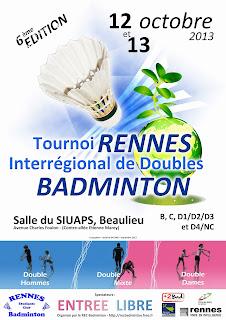 6ème Tournoi de Doubles 2013