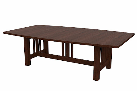 Plains Mission Conference Table in Temperance Walnut