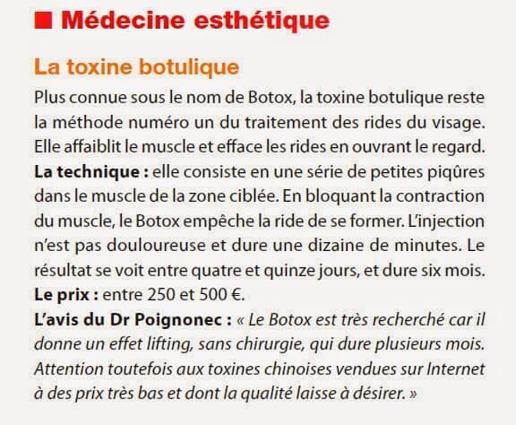 toxine botulique technique prix avis Dr. Sylvie POIGNONEC