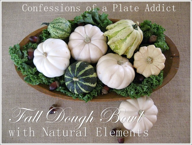 CONFESSIONS OF A PLATE ADDICT Fall Dough Bowl with Natural Elements