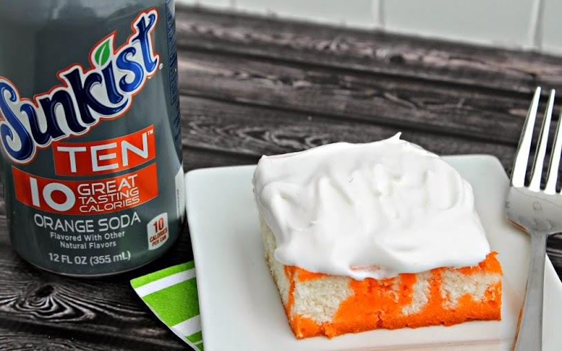 Lightened-Up Orange Poke Cake Recipe with Sunkist TEN