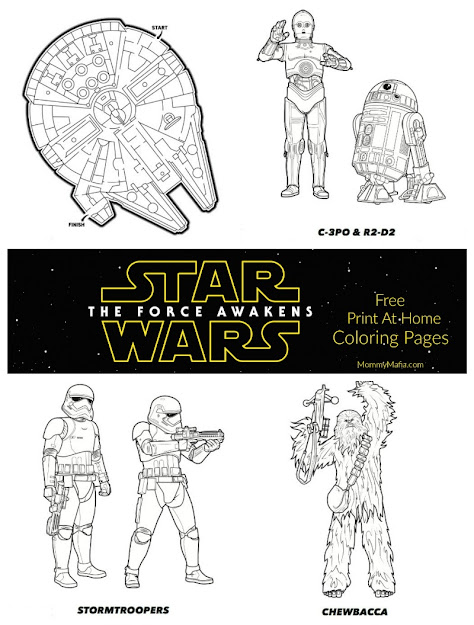 More Free Star Wars The Force Awakens Coloring Pages