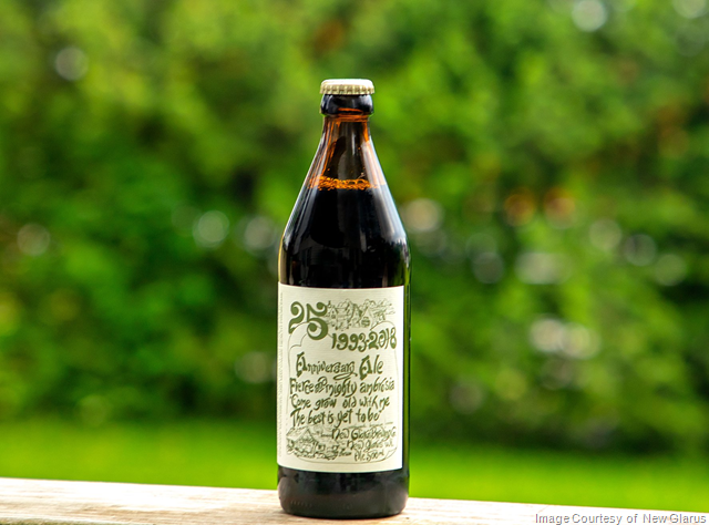 New Glarus 25th Anniversary Ale Coming 6/8 As 1st 2018 R&D Release