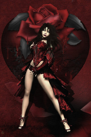 Red Wiccan Rose, Wicca Girls