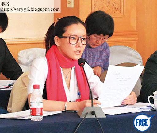 上週四, 40歲彭丹以甘肅省政協委員身份出席政協甘肅省第十一屆委員會第一次會議,其間表現認真,並提出「甘肅成立影視基地」提案。網上圖片