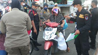 Operasi Yustisi Gencar Dilakukan Di Kawasan Pasar, Trantib Pasar Gandeng Satgas Covid-19