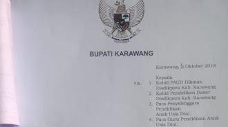 Bupati Karawang Keluarkan Surat Edaran Pelarangan Pemberlakuan Calistung Di Setingkat PAUD