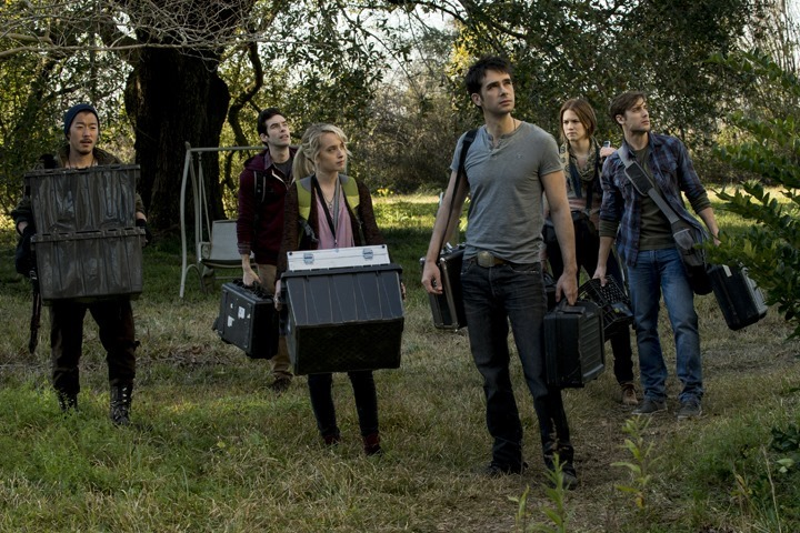 Dustin Milligan (front right) in HAUNTED