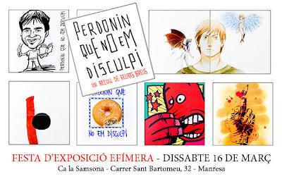 Festa d'exposició efímera llibre de contes curts