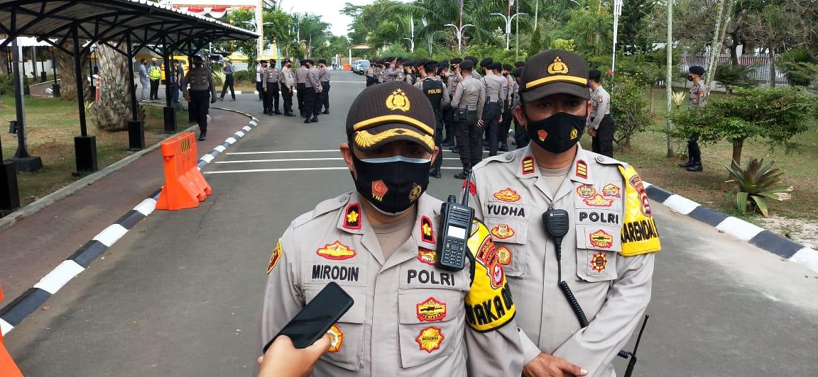 Polda Banten, Apresiasi Demo Yang Berlangsung di Depan Kantor DPRD Banten