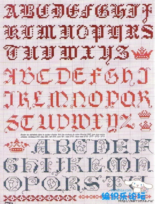 abeceadrios varios iniciales