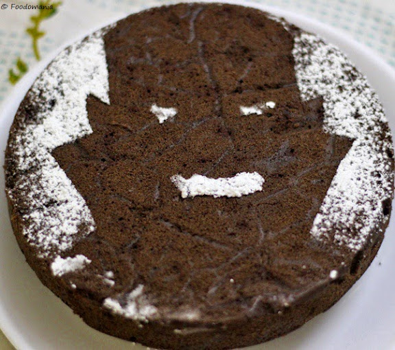 vampire stencil cake for halloween