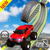 Monster Truck Racing: Super Sky Track Ride