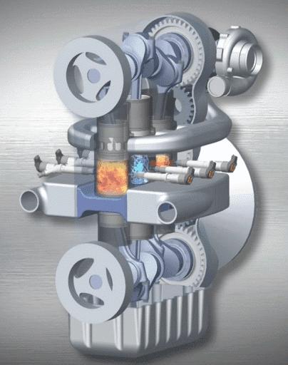 ★驚きの燃費効率を実現する「対向型2ストロークエンジン」
