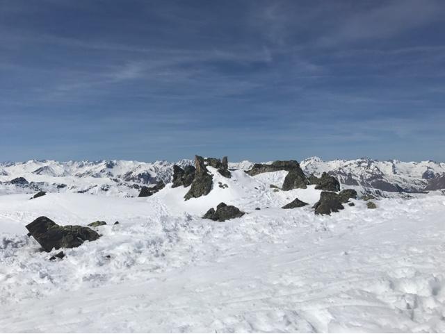 panorama en ski dans les 3 vallées sur les alpes
