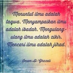 Menuntut ilmu Imam Al Ghazali