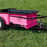 If you've got to spread manure, you might as well look good doing it! We can paint your spreader pink, too, if you like – all you have to do is ask.
