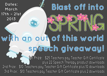 Blast Off Into Spring Giveaway