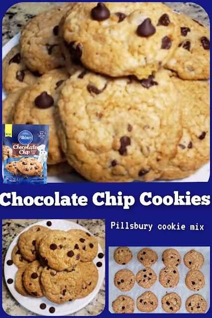 Chocolate Chip Cookies with Pillsbury Cookie Mix