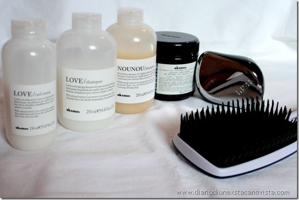 haircare routine davines love nounou tangle teezer