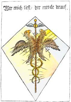 From Medicinisch Chymisch Und Alchemistisches Oraculum 1755, Alchemical And Hermetic Emblems 2