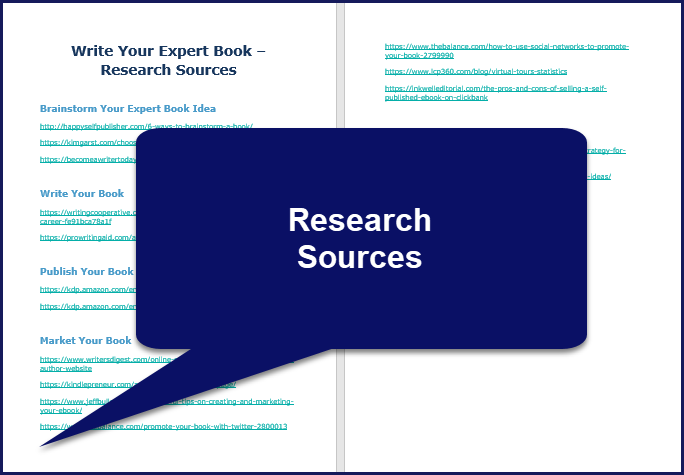 Write Your Expert Book - Research Sources
