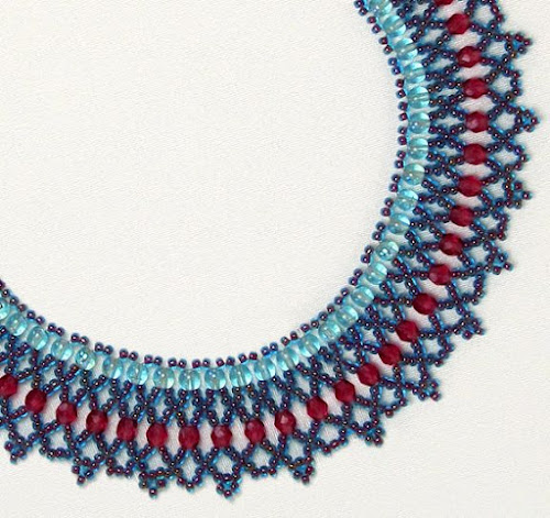 Crystal Netting Necklace Tutorial