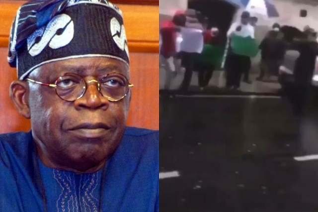 Bola Ahmed Tinubu bullied and called a Thief by Angry Protesters in France [Video]