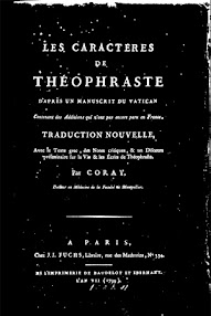 Cover of Paracelsus's Book Les Caracteres de Theophraste (in French)