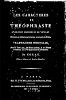 Les Caracteres de Theophraste (in French)