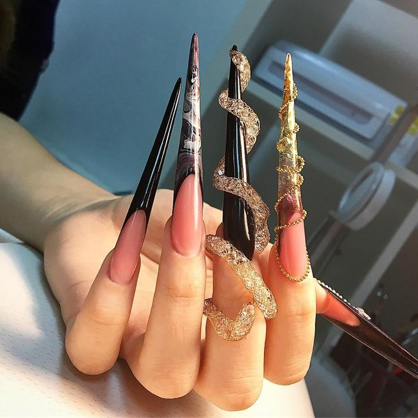 Stiletto Nails Designs Ideas