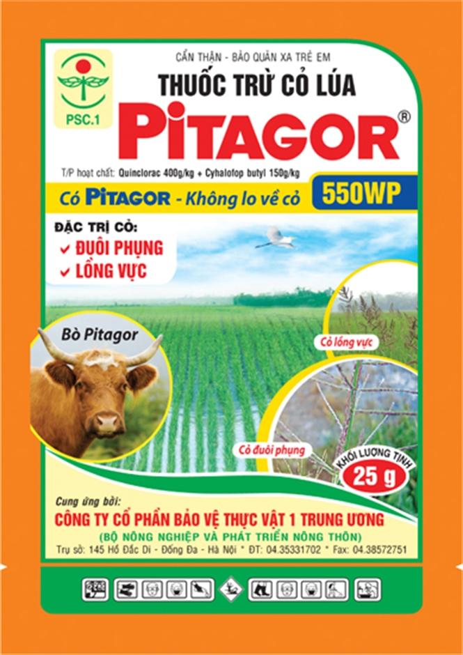 Thuốc trừ cỏ PITAGOR 550WP trừ được nhiều loại cỏ trên ruộng lúa - 56d7cf0434d51