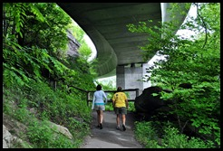 10b - Linn Cove Viaduct Hike May 29 - walking under the Viaduct