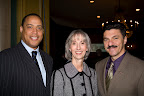 Former NFL player Don McPherson, SafeHaven CEO Mary Lee Hafley and Jeffrey Halstead.