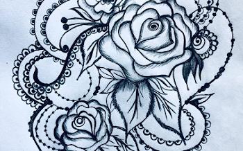 Ornamental Rose Tattoo Design