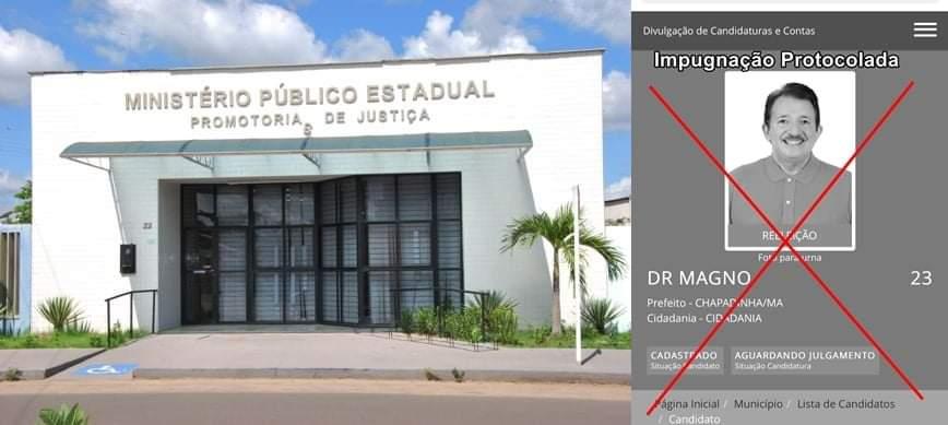 Ministério Público pede impugnação do Registro de Candidatura do prefeito Magno Bacelar