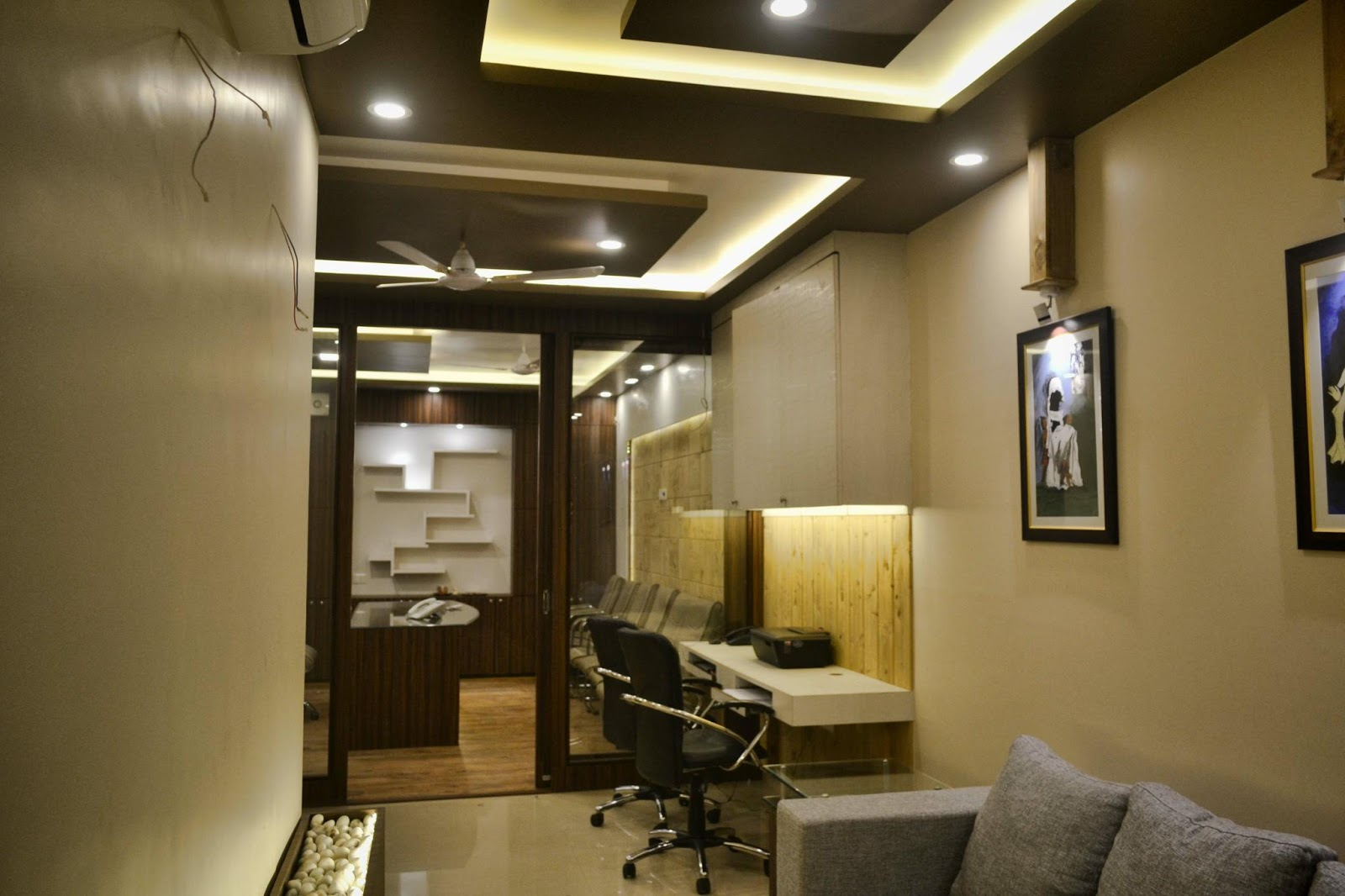 Bon A Senior Property Dealer Mr. Raj Oberoiu0027s Office Design In Modern Theme  Approximately The Area Of This Office Is 300 Sqft .