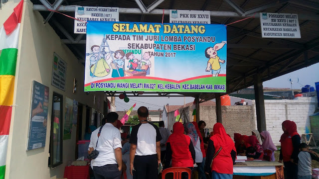 Camat Babelan Pilih Posyandu Wangi Melati Dalam Lomba Tingkat Kabupaten